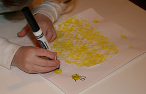 beehive craft drawing bees