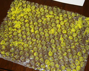 beehive craft paint bubble wrap