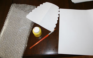 bubble wrap beehive craft materials