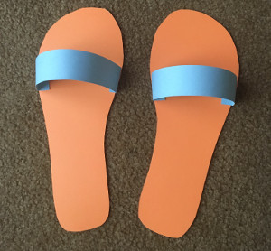 flip flops craft step 3