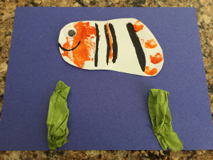 handprint fish craft step 7