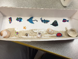 kids ocean scene craft finish