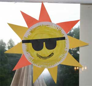 & Paper Plate Sun Craft | All Kids Network