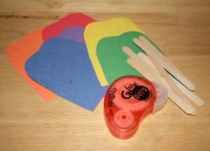 popsicle matching craft materials