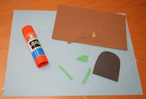 sand paper castle craft materials