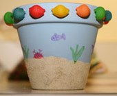 Ocean Flower Pot Craft