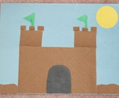 Sand Paper Castle Craft