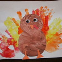 Finger Paint Turkey Craft