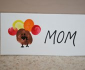 Fingerprint Turkey Place Card