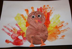 Finger Paint Turkey Craft