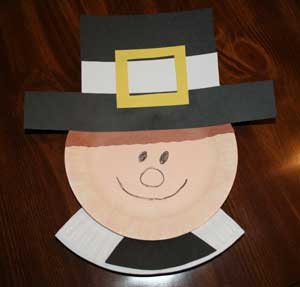 Paper plate pilgrim crafts all kids network for Arts and crafts ideas for boys