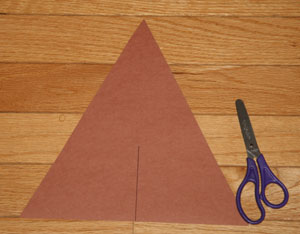 triangle teepee craft materials