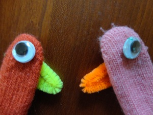 kids turkey puppets