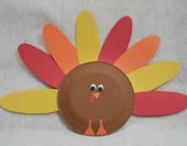 Thanksgiving Paper Plate Turkey Craft