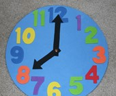 Kids Clock Craft