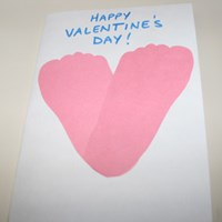 Heart Footprint Card Craft