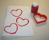 Heart Stamps Card