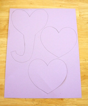 elephant valentine craft outline template