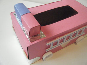 fire truck valentine holder top