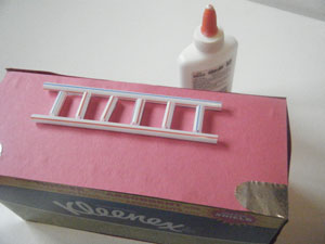 fire truck valentine holder ladder