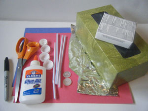fire truck valentine holder craft materials
