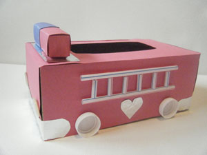 fire truck valentine holder craft