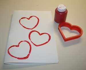 heart stamps craft