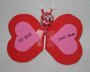 candy valentine craft