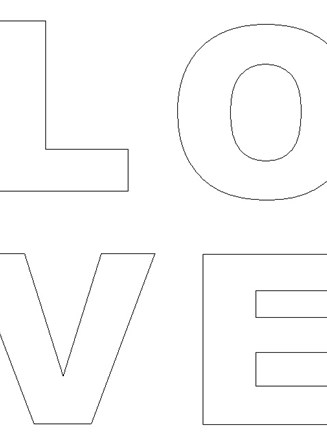 Love Doorhanger Letters Template