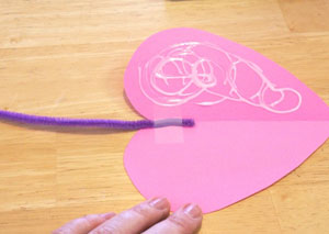 mouse valentine craft step 4