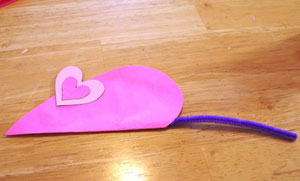 mouse valentine craft step 6