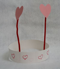 kids heart headband craft