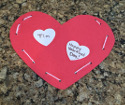 lacing valentine craft