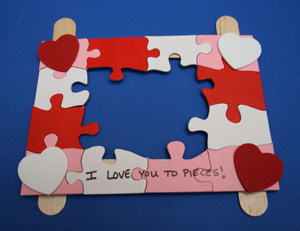 valentines day frame craft