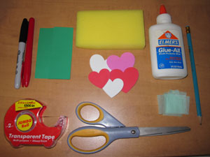 valentines garden craft materials