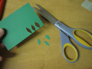 cutting leaves