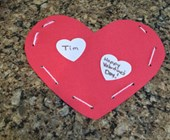 Lacing Valentine Heart Craft