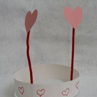 Paper Heart Headband Craft