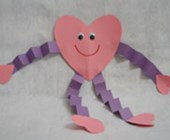 Paper Heart Person Craft