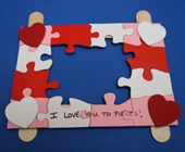 Valentine's Day Picture Holder Craft