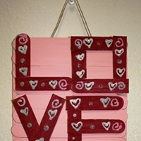 Popsicle Stick Love Craft