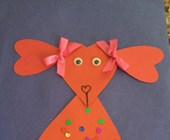 Valentine Puppy Craft