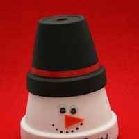 Clay Pot Snowman Craft