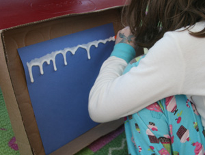 icicle craft step 1