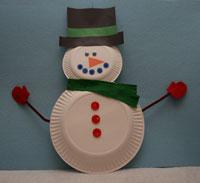 & Paper Plate Snowman Craft | All Kids Network