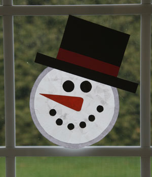 snowman sun catcher craft
