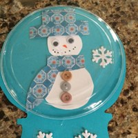 Plastic Plate Snow Globe Craft