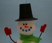 Styrofoam Snowman Craft