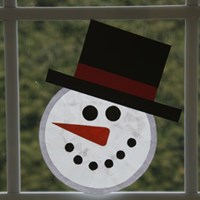 Sun Catcher Snowman Craft