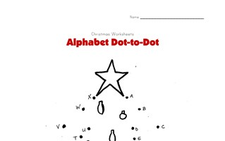 Christmas Tree Alphabet Connect the Dots